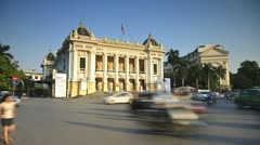 Opera House, Hanoi, Vietnam - stock footage