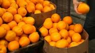 Hong Kong Market Street, Close Up Fresh Fruits, Orange for sale, Chinese Stock Footage