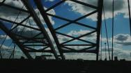 Crossing bridge 1 Stock Footage