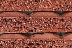 porous chocolate.closeup. - stock photo