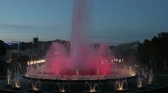 Magic fountain 3 Stock Footage