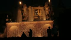 Magic fountain 6 Stock Footage