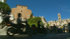 The Capitoline Hill & traffic in Rome (3) Stock Footage