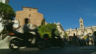 Stock Video Footage of The Capitoline Hill & traffic in Rome (3)