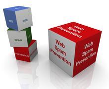 web spam prevention - stock illustration