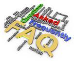 3d faq wordcloud Stock Illustration