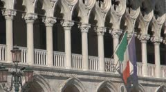 Venice Palazzo Ducale Stock Footage