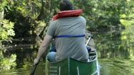 Canoe Paddler Following Shot Stock Footage