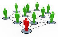 3d social network Stock Illustration