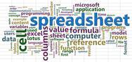 Spreadsheet wordcloud.jpg Stock Illustration
