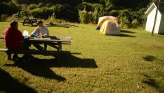 Campground Slider Stock Footage