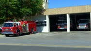 Stock Video Footage of Firetrucks At Fire Station Ready To Roll In Shawnee OK