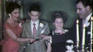 Stock Video Footage of PROUD PARENTS BAR MITZVAH Jewish American 1960 (Vintage Film Home Movie) 4964