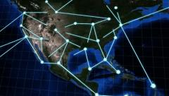 Growing Global Network - stock footage