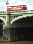 England Double Decker and Bridge Stock Photos