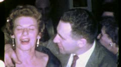 COUPLE PARTY JEWISH AMERICAN Cocktails 1960 (Vintage Old Film Home Movie) 4966 - stock footage