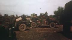 Africa- US troop camp - stock footage
