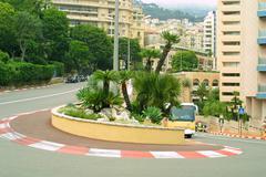 Formula one hairpin in Monte Carlo Stock Photos