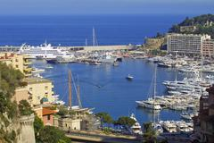 Sea port of Monte-Carlo Stock Photos