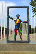 Colourful sculpture Stock Photos