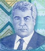 Muotokuva Turkmenistanin presidentti Saparmurat Nijazovin Kuvituskuvat