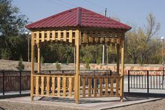 Summerhouse in park Stock Photos