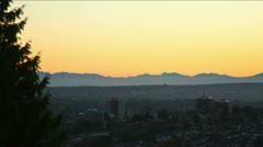 Vancouverin vieritys auringonlaskun jälkeen Timelaspe Arkistovideo