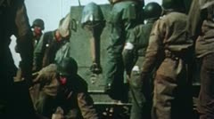 WW2 Color Footage - Africa - Medics in action Stock Footage