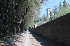 Via crucis in cortona, italy. - stock photo