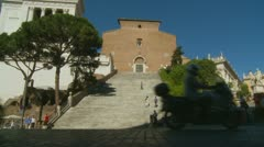 The Capitoline Hill & traffic in Rome (2) Stock Footage