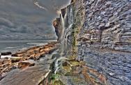 Stock Photo of waterfall dorset kimmeridge bay