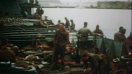 Stock Video Footage of WW2 Color Footage - Africa - Allied soldiers on ship