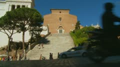 The Capitoline Hill & traffic in Rome (1) Stock Footage