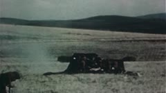 WW2 Color Footage - Africa - Allies firing anti tank guns Stock Footage