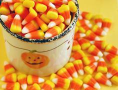Halloween candy corn - stock photo