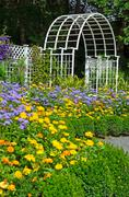 garden archway - stock photo