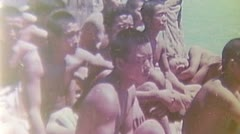 WW2 Color Footage - pacific war - japanese prisoners Stock Footage