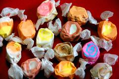 Wrapped taffy - stock photo
