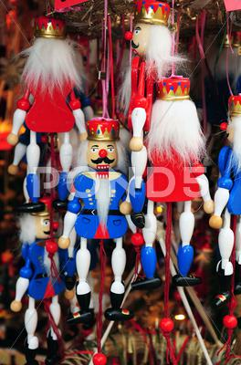 Stock photo of Nutcracker marionettes