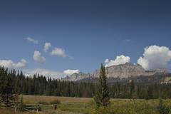 MG 1334 Wyoming mtns.jpg Stock Photos