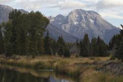 Quiet Wyoming river - stock photo
