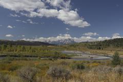 Wyoming Tetons Stock Photos