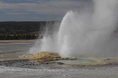 Upper geyser basin Stock Photos