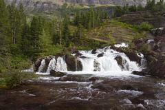 Red Rock Falls - stock photo