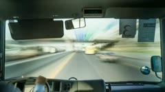 Highspeed Busdriver 4K Timelapse Stock Footage