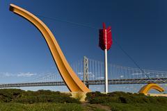 MG 7197 sculpture bay bridge.jpg Stock Photos