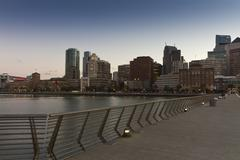 MG 7396 bridge railing skyline.jpg - stock photo