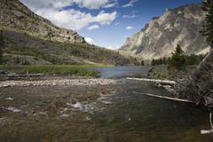 Inlet stream Elk Lake Stock Photos