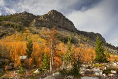 Rock Creek Valley in Autumn - stock photo