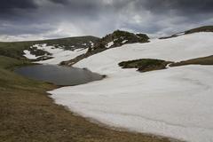 High mountain lake Stock Photos